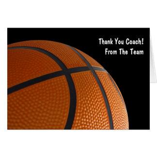 Het basketbal dankt Uw Kaarten van het Team