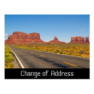 Het berichtkaart van de adreswijziging briefkaart