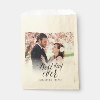 Het beste Huwelijk van de Foto van de Kalligrafie Bedankzakjes 0