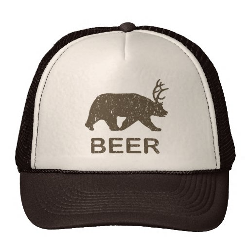 Het bier draagt Herten Mesh Petten