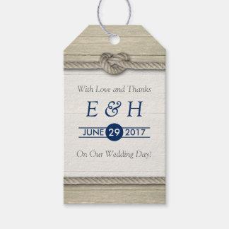 Het binden van het Huwelijk van het Strand van de Cadeaulabel