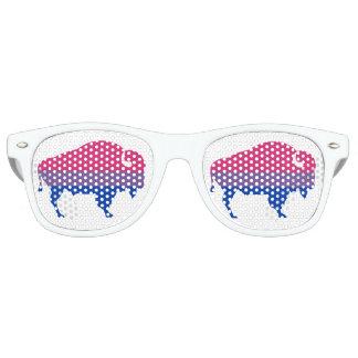 Het Biseksuele Logo van buffels, (Zon Glases) Retro Zonnebril