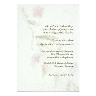 Het blad Botanische Natuurlijke Huwelijk van de Kaart