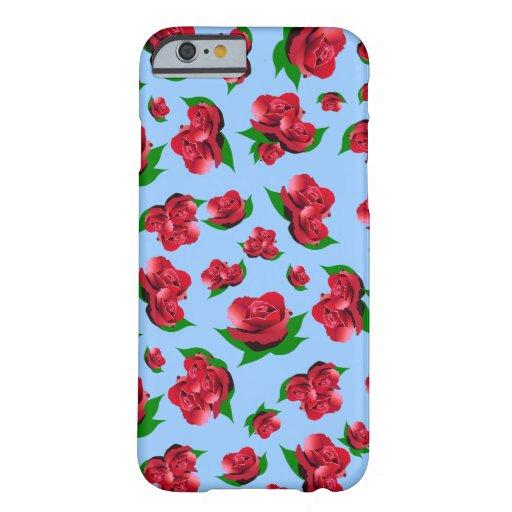 Het blauw & het Rood namen Patroon toe Barely There iPhone 6 Case