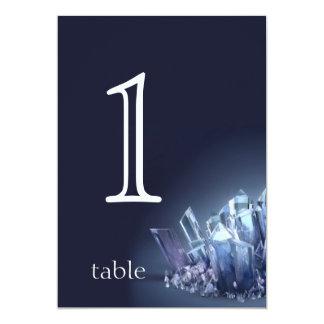 Het blauwe Aantal van de Lijst van het Jubileum 12,7x17,8 Uitnodiging Kaart