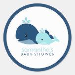 {Het blauwe} Baby shower van het mamma en van de W Stickers