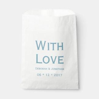 Het Blauwe en Witte Gepersonaliseerde Huwelijk van Zakje 0
