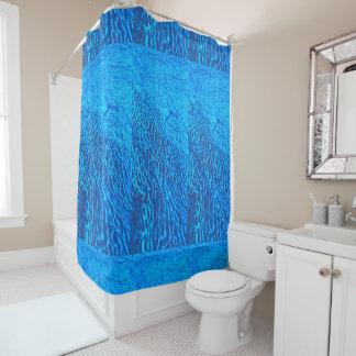 Het blauwe gordijn van de zeedouche gordijn         0