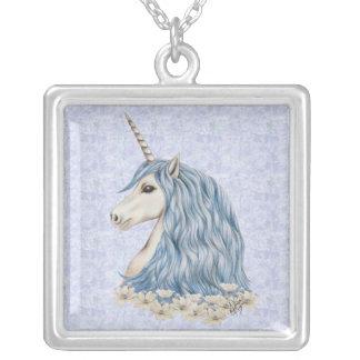 Het Blauwe Haar van de eenhoorn Zilver Vergulden Ketting