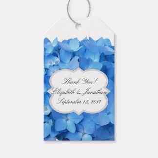 Het blauwe Huwelijk van de Hydrangea hortensia Cadeaulabel