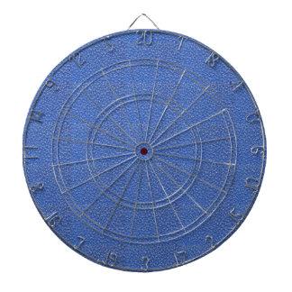 Het blauwe Leer kijkt textuurachtergrond toevoegt Dartbord