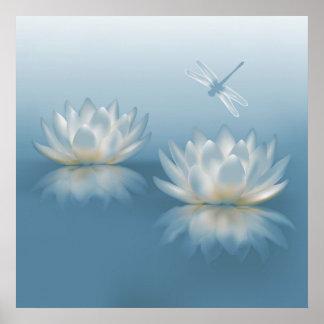 Het blauwe Lotus en Poster van de Libel