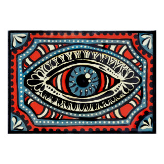 Het blauwe Oog van de Zigeuner Poster