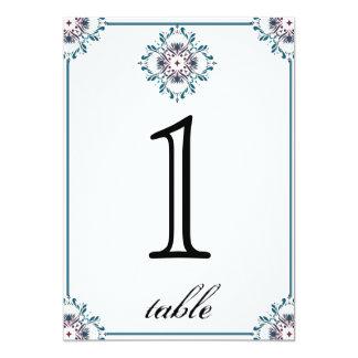 Het bloemen Aantal van de Lijst van het Jubileum 12,7x17,8 Uitnodiging Kaart