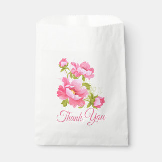 Het bloemen Roze Huwelijk van de Bloem van de Bedankzakje