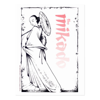 Het briefkaart Mikado
