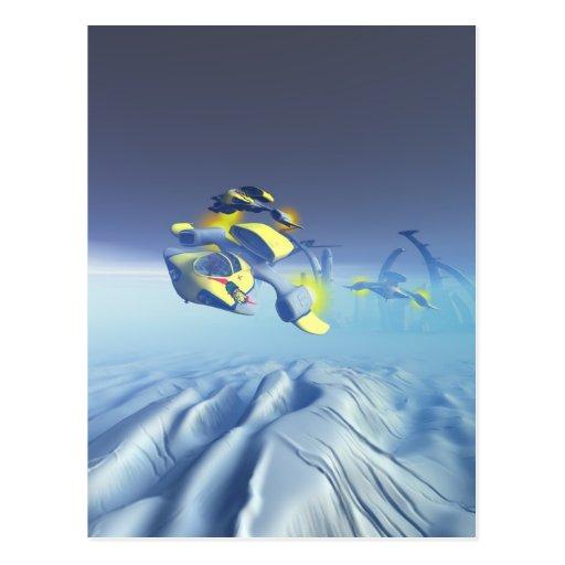 Het Briefkaart van de Luchtparade van het Eskader  Wens Kaart