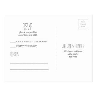 Het Briefkaart van de waterverf RSVP