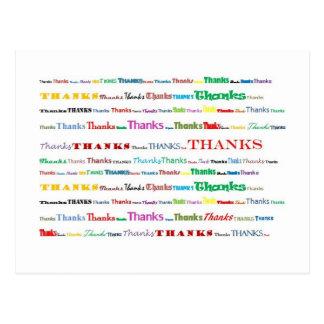 Het briefkaart van het bedankt