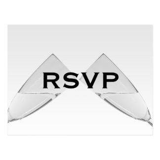 Het Briefkaart van het Glas RSVP van Champagne