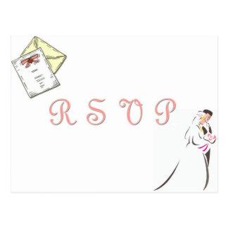 """Het briefkaart van het """"huwelijk RSVP"""""""