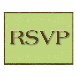 Het Briefkaart van het huwelijk RSVP