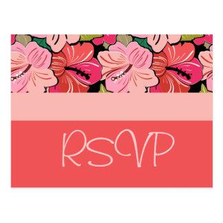 Het Briefkaart van het Huwelijk RSVP van de