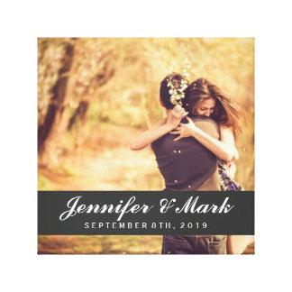 Het Canvas van de Datum van het huwelijk | Foto va