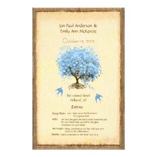 Het capricieuze Blauwe Programma van het Huwelijk Flyer 14 X 21,6 Cm