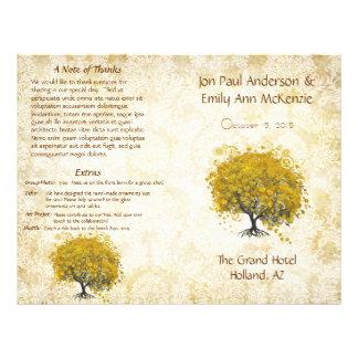 Het capricieuze Gele Programma van het Huwelijk Flyer 21,6 X 27,9 Cm