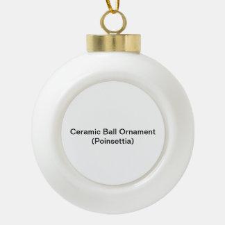 Het ceramische Ornament van de Bal (Poinsettia)