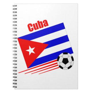 Het Cubaanse Team van het Voetbal Notitieboek