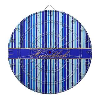 Het Dartboard van de Chanoeka met Blauwe Gouden St Dartbord