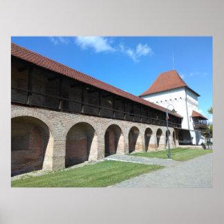 Het de middeleeuwse Muur en Bastion van de Vesting Poster