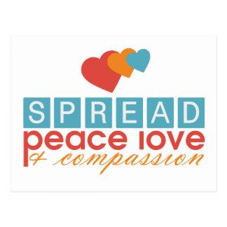 Het de uitgespreide Liefde en Medeleven van de Briefkaart