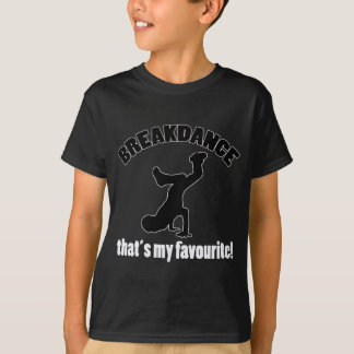 het design van de breakdancedans t shirt
