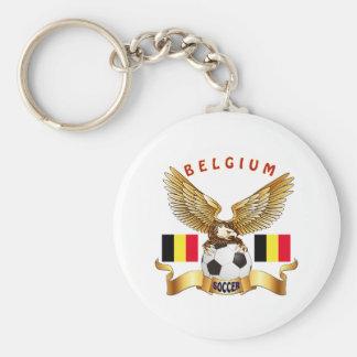 Het Design van het Football van België Basic Ronde Button Sleutelhanger