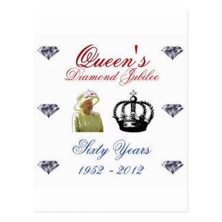 Het Diamanten jubileum 1952-2012 van het Queens 60 Briefkaart