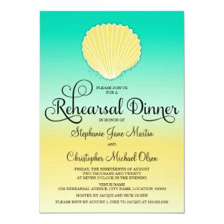 Het Diner van de Repetitie van Ombre van de Kleur 12,7x17,8 Uitnodiging Kaart