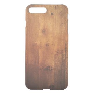 Het donkere Houten Woodgrain van de Korrel Hout iPhone 8 Plus /7 Plus Hoesje