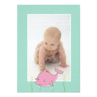 Het Doopsel die van het baby de Roze Foto van de Kaart