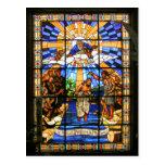 Het doopsel van Christus - Gebrandschilderd glas - Wens Kaart