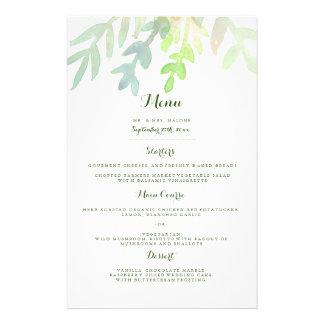 Het dromerige Menu van het Diner van het Huwelijk