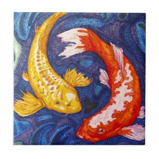 Het dubbele Ontwerp van Vissen Koi Tegeltje
