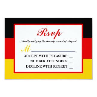Het Duitse Huwelijk RSVP van de Vlag 8,9x12,7 Uitnodiging Kaart