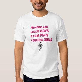 Het echte Man traint meisje-Basketbal Shirt