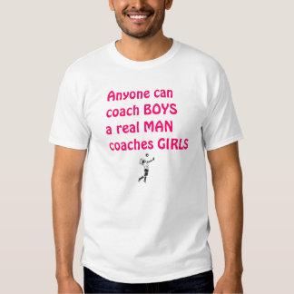 Het echte Man traint meisje-Volleyball Tshirts