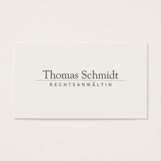 Het eenvoudige Elegante Professionele Visitekaartjes