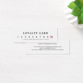 Het eenvoudige Elegante Wit nam de Loyaliteit van Mini Visitekaartjes