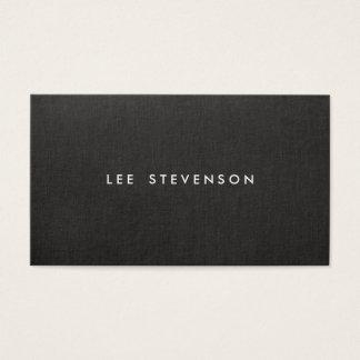 Het eenvoudige Moderne Zwarte Linnen Minimalistic Visitekaartjes